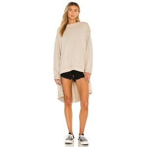 Free People NWT Iggy Pullover Tunic Stone Small